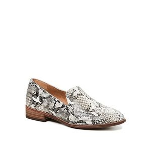Madewell The Frances Snake Print Leather Loafers